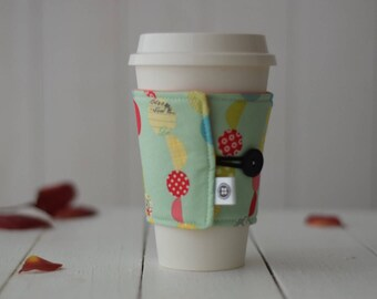 Reversible Coffee Sleeve | Coffee Cup Cozy, Tea Cuff, Confetti