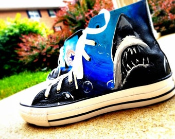 Jaws Converse High Top Shoes