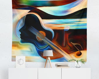 Music Wall Décor | Music Tapestry | Music Wall Tapestry | Music Gift | Music Wall Art | Music Art | Music Décor