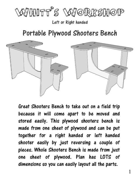 Plywood Shooters Bench Table Pdf File Wood Plans