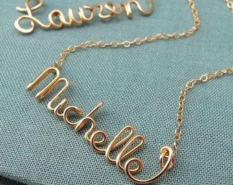 Custom 14k GF Script Name Necklace