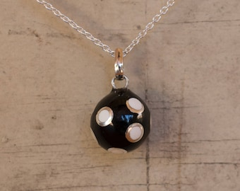 Mexican Bola - Bola Necklace Charm - Harmony Ball - Chime Ball - Angel Caller - Pregnancy Gift - Sterling Silver - Sphere Pendant Only