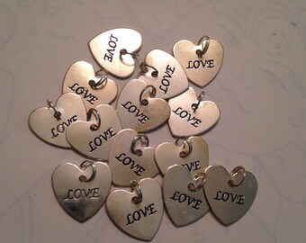 Lot of Heart Love Charms