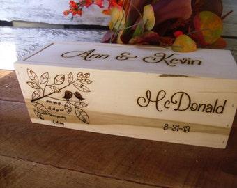 Rustic Wedding, Wine Box, Love Birds, Custom Wine Box, Wine Box Ceremony, Love Letter Box,Wine Box