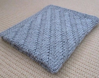 Reversible Baby Blanket Knitting Pattern PDF