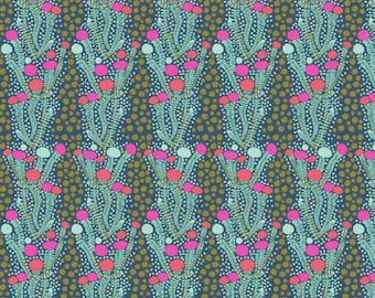 Sweet Dreams by Anna Maria Horner for Free Spirit - Ladder - Sea - 1/2 yard Cotton Quilt Fabric