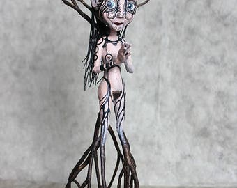 Ritual From The Ground, OOAK Doll tree woman