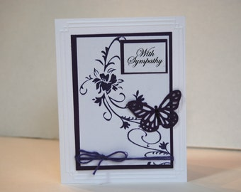 With Sympathy, Handmade Sympathy card