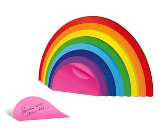 Rainbow Sticky Notes, Rainbow colored Sticky Notes,Sticky Note Pads