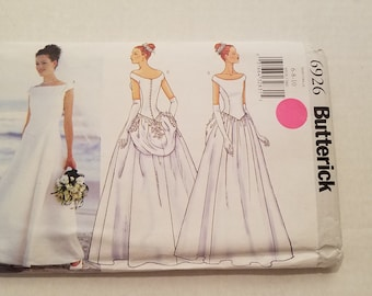 Butterick Pattern 6926 Lined   Floor Length Wedding Dress with Bustle size 6-8-10