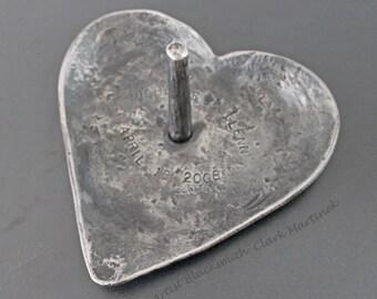 Traditional 6th wedding anniversary gift, iron anniversary gift for her, unique gifts for woman, iron ring dish