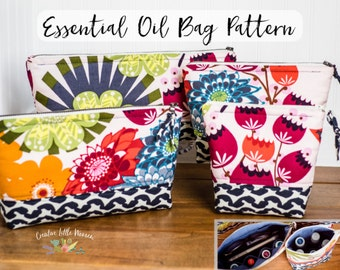 Essential Oil Storage Bag PATTERN, Essential Oil Bag,  Case, Oil Pouch, Holds 5 - 11 Bottles, PDF Pattern, *Permission to Sell Finished Item