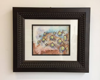 Bathroom art - School of Fish (Limited Edition Archival Fine Art Giclee Print) frame not included