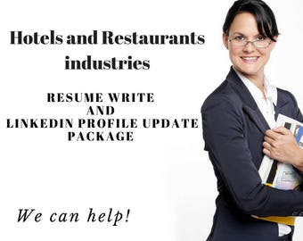 Hotel and Restaurant Resume writing Service AND Linkedin Rewrite