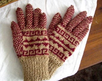 Kit - knit Andean gloves