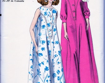 1960s  Vogue  Pattern 6950  // ELEGANT Ladies Evening Length  Housecoat Hostess Robes  * Size 12 - Bust 32 * UNCUT