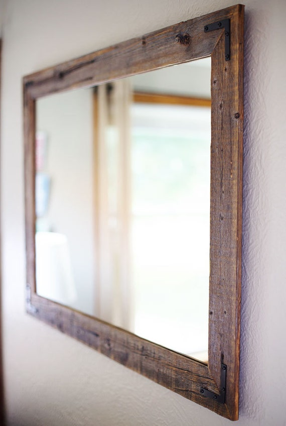 Large Wall Mirror, Large Wood Framed Mirror, Large Bathroom Mirror, Wall  Mirror, Reclaimed Wood Mirror, Rustic Wood Mirror, Rustic Mirror