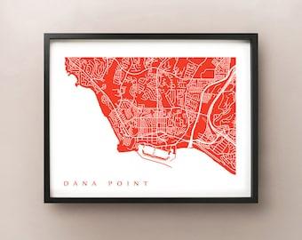 Dana Point Map Print - California Poster