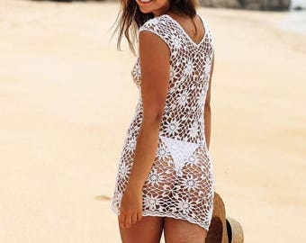 Crochet  Dress Beach Dress Beachwear Summer