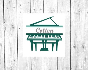 Piano Decal | Monogram Piano | Music Decal | Monogram Decal | Yeti Cup Decal | Personalized Sticker | Custom Decal | Car Decal | Vinyl Decal