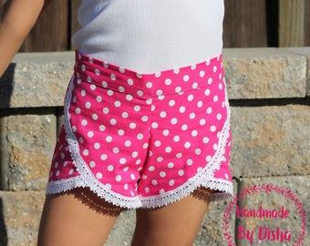 Girls shorts, toddler  shorts, shorties