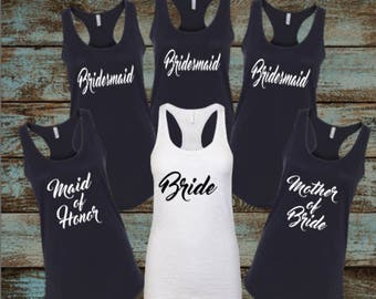 Bridal Party Shirt, Bride to be, Bridesmaid, Maid of Honor, Wedding shirts, Bachelorette Shirts