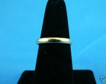Vintage 14K Yellow Gold Plain WEDDING BAND RING d Size 7