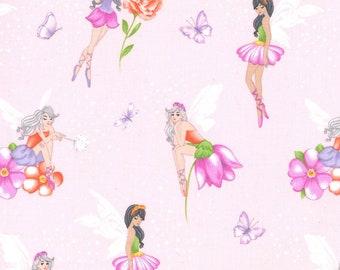 Michael Miller Blossom Fairy Frolic Fabric - 1 yard