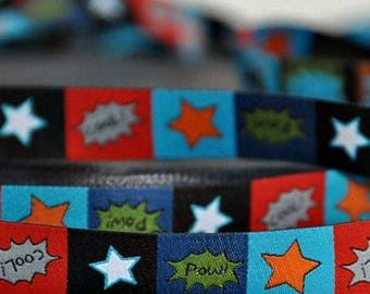 Ribbon cool farbenmix 15mm by the yard