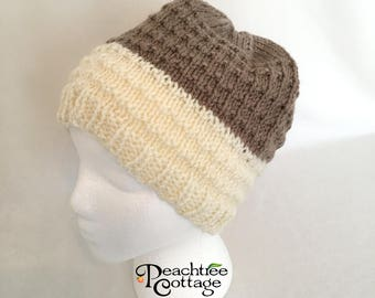 Hand Knit Hat, Slouch Hat, Soft Knitted Hat, Cloche Hat, Slouchy Beanie, Knit Toque, Winter Hat - Ready to Ship