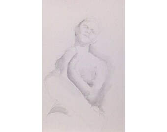Figure- 6x8, graphite/wash on paper
