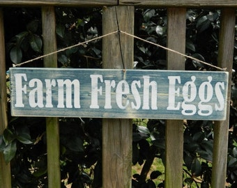 Farm Fresh Eggs, Farm Fresh Eggs Sign, Farm Fresh Sign, Kitchen Decor, Kitchen Sign, Rustic Decor, Farm Decor, Chicken Decor, 24 x 6 Sign