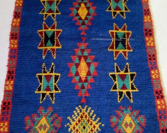 """Moroccan vintage berber rug""""berber rug""""azilal rug 184x108 cm"""