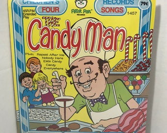 "The Candy Man vintage record SEALED Peter Pan Records 7"" vinyl"
