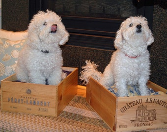 Personalized Wine Crate Pet Bed