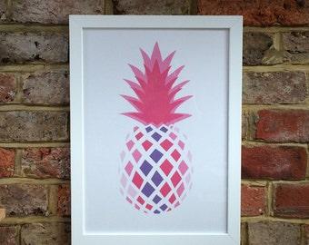 Impression d'art ananas rose