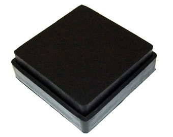 Rubber Bench Block With Rubber Base 4x4x1 Inch