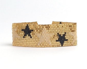 Miyuki Woven Bead Bracelet Seed Bead Boho Layering Adjustable Bracelet