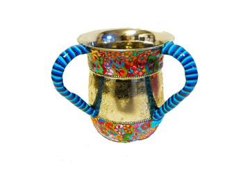 Modern Washing cup, washing cup, wedding gift. Judaica art, Judaica, gift, Bat Mitzva gift, Jewish gifts, design washing cup, Jewish art