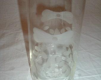 vintage blown glass bow tie vase