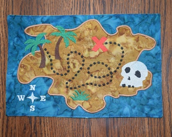 Instant Download: ITH Pirate Adventure Buried Treasure Map, Toy, Softie Machine Embroidery Design 2 Size