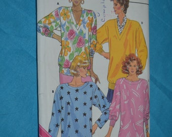 Butterick 3977 Misses Top Sewing Pattern - UNCUT  - Size L - XL