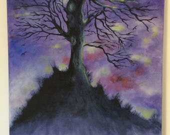 Gothic tree in acrylic