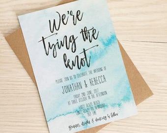 Beach wedding invitation - Destination wedding invitation - Modern beach wedding invitation