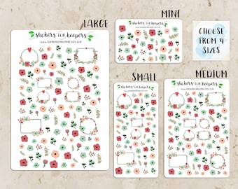 Floral Stickers, Flower Stickers, Decorative Stickers, Planner Stickers, Bullet Journal Stickers, TN Stickers, Floral Planner Stickers #FL13