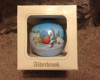 "Vintage Christmas Alderbrook Ornament 1983 ""Christmas Time is Fun Time"""