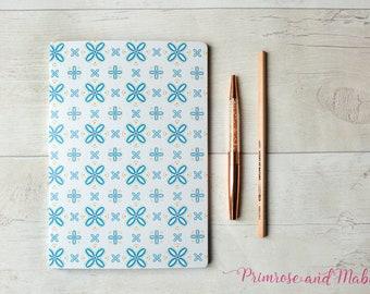 SALE, A5 Geometric Notebook, A5 Sketchbook, Notebook, Plain Paper Notebook, Geometric Stationery, Designer Stationery