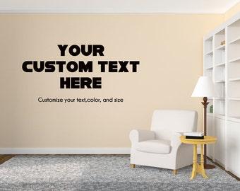 Custom Wall Decal Custom Office Or Study Wall Decal Wall Decor   Your Customized  Wall Decal