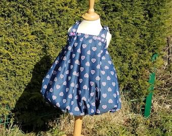 bubble heart dress
