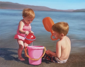 CUSTOM FAMILY PORTRAIT - Oil Painting - Gift for Family